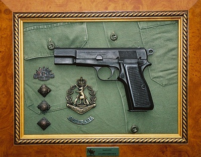 Military Trophies Framed Weapon Plaques Of Military